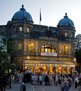 Opera House Buxton at dusk